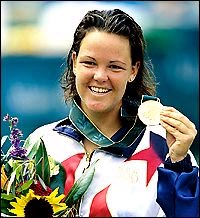 Lindsay with gold medal